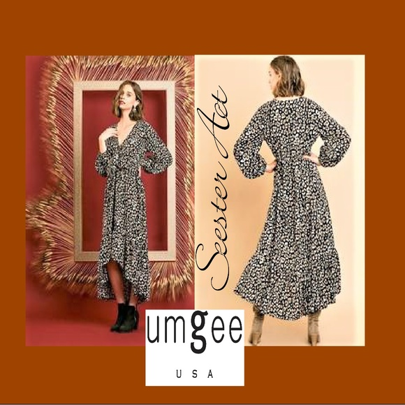 Umgee Boho Leopard Print Dress Boutique